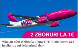 ATENŢIE, NU MUŞCATI MOMEALA - Wizz Air oferă la 2 bilete la 1 euro tuturor!