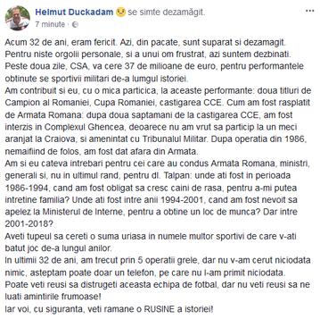 """Mesaj DUR al lui Duckadam, la zi aniversară : """"Veţi rămâne o RUŞINE a istoriei!"""