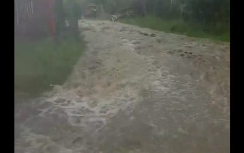 ACUM ! VIDEO, Rupere de nori la Corbeni si Arefu ! Viitura si curți inundate