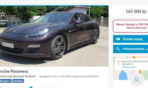 """Lovitură în """"Dosarul Proxenetilor"""" - Un Porsche confiscat este vandut pe OLX, Mustangul returnat !"""