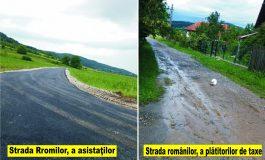 SCANDAL LA TIGVENI ! Asfaltul bagă zâzanie între români şi etnicii romi