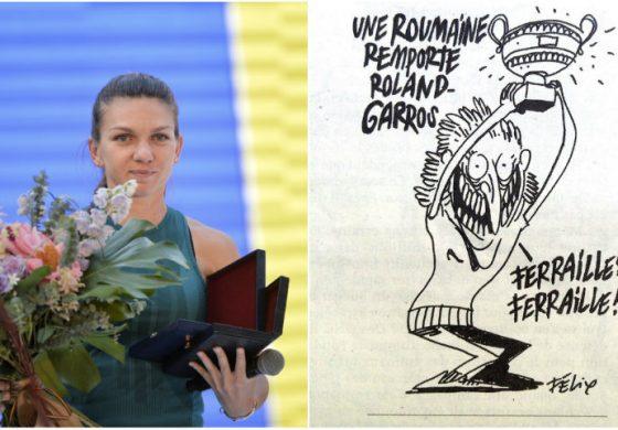 După ce au ironizat-o pe Simona Halep, publicaţia Charlie Hebdo, chemaă să dea explicaţii în Parlamentul European