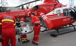 ACUM ! Elicopterul SMURD la Curtea de Argeş preia un copil de 3 ani