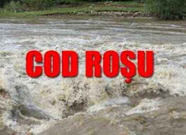 ALERTA MAXIMA ! In Argeş s-a instituit COD ROŞU de inundaţii şi vreme rea