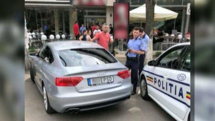 ULTIMĂ ORĂ Șoferul mașinii cu numere M..E PSD a rămas fără permis și fără plăcuțe de înmatriculare