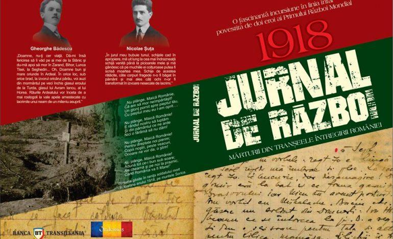 """EVENIMENT la Mioveni: Lansarea volumului """"JURNAL DE RAZBOI"""""""
