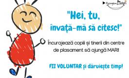 """CP  """"Învață-mă să citesc!"""" - Se caută 1000 de voluntari Arges"""