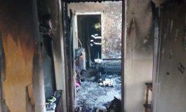GALERIE FOTO ! Ce a mai ramas din apartamentul care a luat foc in Curtea de Arges