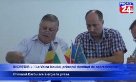VIDEO Model PSD ! La Valea Iaşului, primar cu alergie la presa ! Sedinţa CL transmisa de PROFIT 24 TV