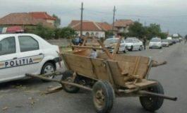 ACUM! Accident în Argeș! Căruță versus mașină - căruțașul este victimă