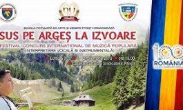 Începe Festivalul de Muzică Populară ,,Sus pe Argeș la Izvoare''