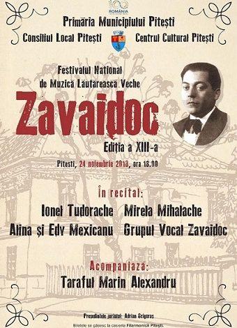 Festivalul Național de Muzică Lăutărească Veche ZAVAIDOC