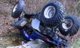 ACUM ! Coliziune ca-n filme intre un ATV si un autoturism