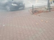 ACUM! Masina in flacari ! Dezastru limitat de interventia rapidă a unui subofiter ISU - GALERIE FOTO