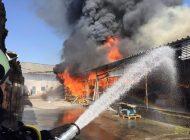 ACUM ! Arde o fabrică de mobilă în Argeş
