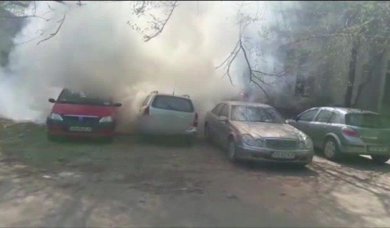 ACUM! Posibil incendiu mașină in Curtea de Argeș – Intervin pompierii