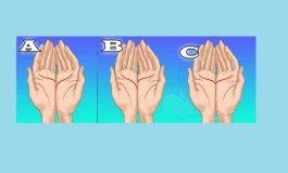 Priveste-ti mainile si urmareste liniile din imagine!
