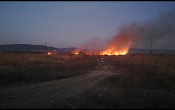 VIDEO ACUM! 2 INCENDII ÎN ARGEŞ - Ard suprafete mari de vegetație