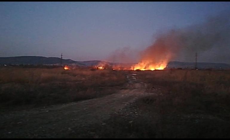VIDEO ACUM! 2 INCENDII ÎN ARGEŞ – Ard suprafete mari de vegetație