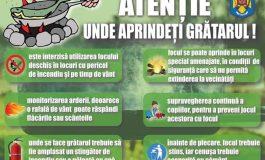 ISU Argeș face recomandări pentru minivacanța de 1 Mai: ATENȚIE UNDE APRINDEȚI GRĂTARUL !