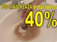MÂRLĂNIE PSD, ATENŢIE CE VOTAŢI MÂINE ! Gaşca lui PIC majorează preţul la apă cu 40 % la Curtea de Argeş, imediat după alegeri !