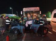 ACUM! Accident grav in Argeș - Autobuz plin cu calatori implicat într-un