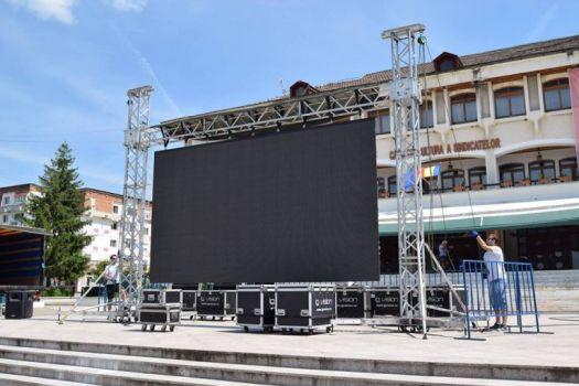 La Mioveni, primăria montează un ecran uriaș pentru meciurile Campionatului European de Fotbal U21