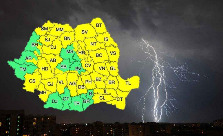Vremea în Weekend! Prognoza meteo 7-9 iunie. Cod galben până luni