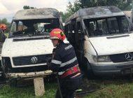 ACUM! 6 microbuze în flăcări la Curtea de Argeș