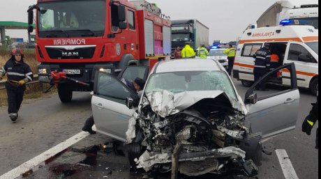 ACUM! Accident mortal pe autostrada Pitești – București