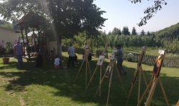 Cursantii Scolii Populare de Arte Pitesti - Expozitie de icoane la Schitul Slanic