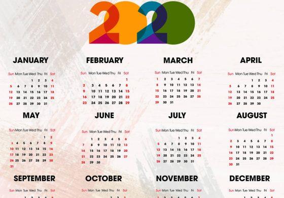 Calendarul zilelor libere in 2020